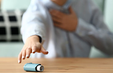 Asthmaanfälle nach der Diagnose